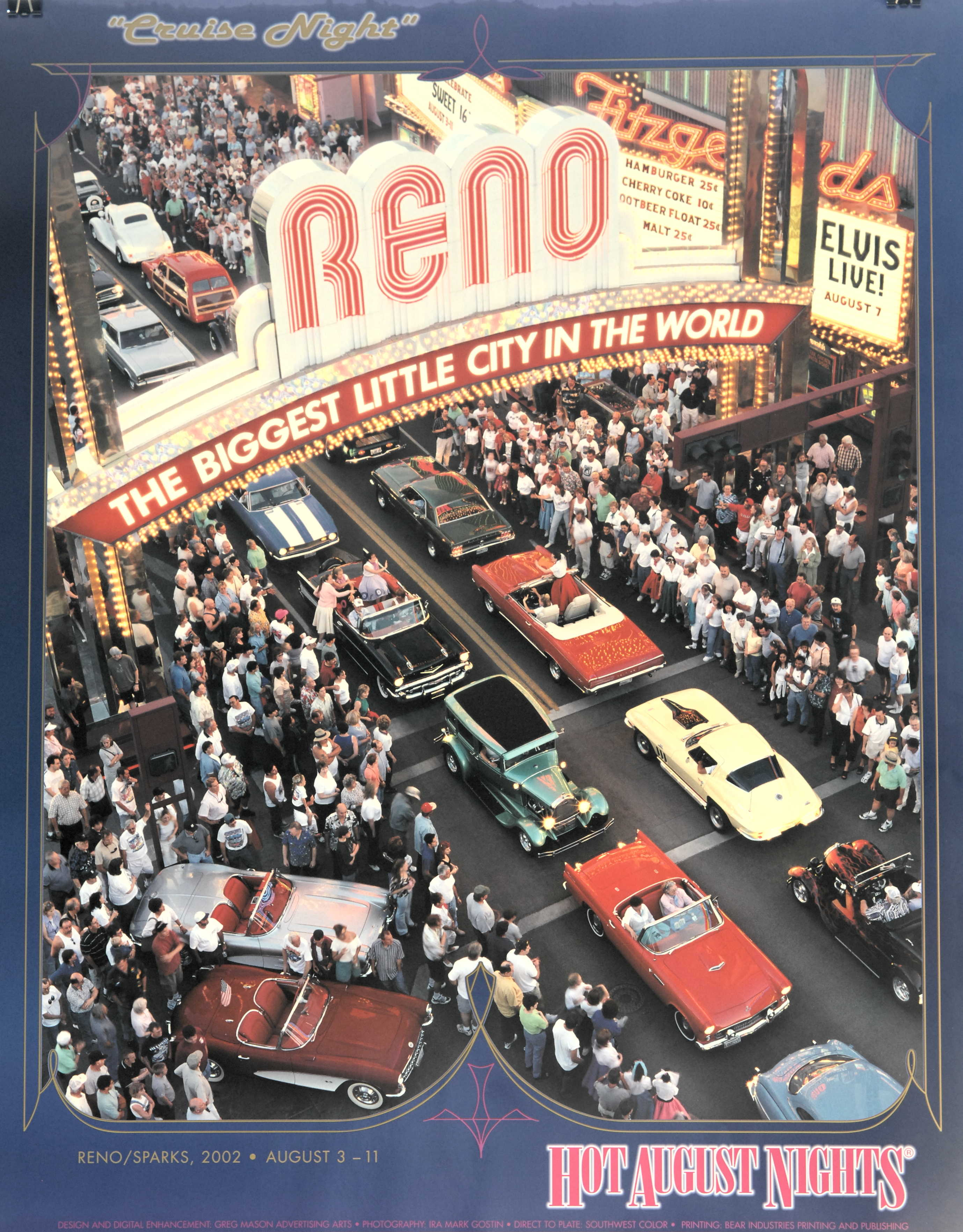 Official HAN Event Poster Hot August Nights - Hot august nights car show reno nevada