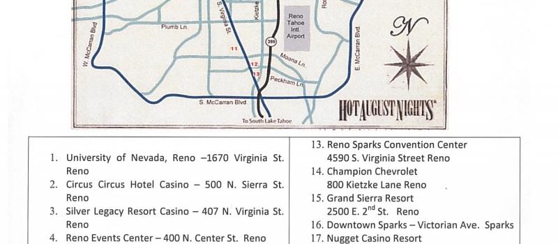 Reno/Sparks Venue Map